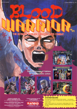 European arcade flyer of Blood Warrior.
