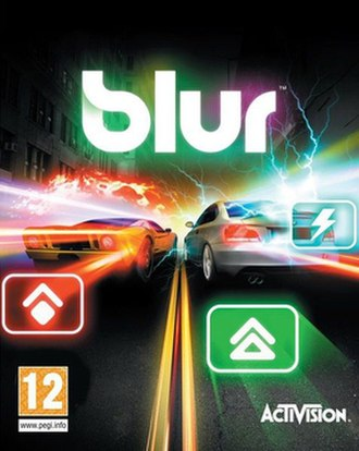 Blur (video game) - Box art featuring a  Ford GT and BMW 1M