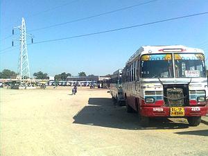 Tikamgarh - Half view Of Bus Stand (Tikamgarh)
