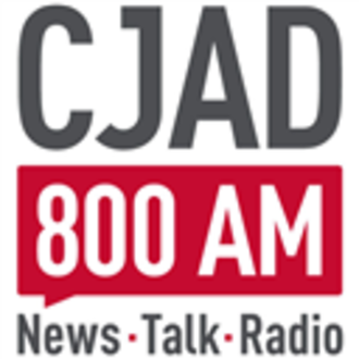 CJAD - Current logo of CJAD. The current CJAD logo also exists with the CJAD logo on the left, and the slogan/frequency on the right.