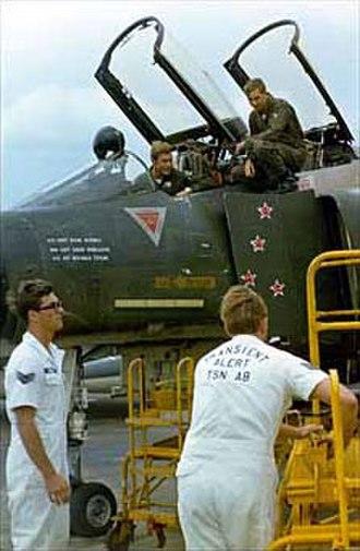 Charles B. DeBellevue - Captains Steve Ritchie and Chuck DeBellevue at Tan Son Nhut Air Base