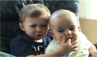 Charlie Bit My Finger - Harry and Charlie as seen in the video.