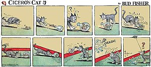 Mutt and Jeff - Bud Fisher's Cicero's Cat (August 7, 1942)