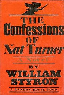 <i>The Confessions of Nat Turner</i> novel by William Styron