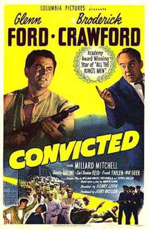 Convicted (1950 film) - Theatrical release poster