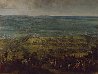 Crossing of the Somme - Crossing of the Somme, 1636. Oil on canvas by Pieter Snayers.