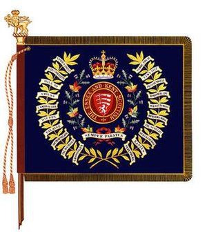 The Essex and Kent Scottish - The regimental colour of the Essex and Kent Scottish.