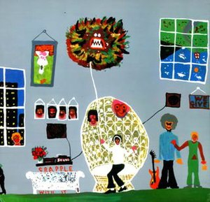 Electronic Sound - Back cover of the LP – a painting by Harrison depicting the fractious situation within the Beatles' Apple enterprise in 1969