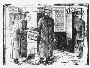 Public Worship Regulation Act 1874 - Illustration of Fr. Richard Enraght entering Warwick Prison in 1880