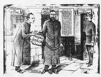 Public Worship Regulation Act 1874 - Illustration of Fr. Richard Enraght entering Warwick Prison in 1880