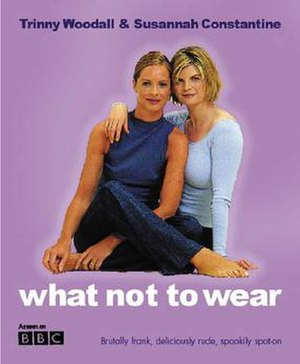 Trinny and Susannah - Woodall (left) and Constantine on book cover.