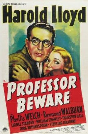 Professor Beware - Original theatrical poster