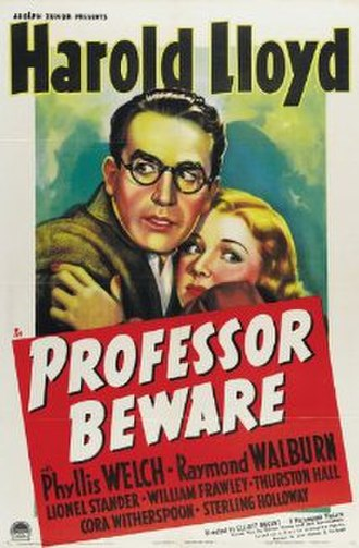 Professor Beware - Original theatrical poster