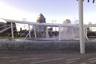 First Ward Park (Charlotte, North Carolina) - Fountain in First Ward Park