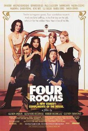 Bellhop - Tim Roth (center) as Ted the bellboy from the film Four Rooms.