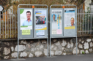 French municipal elections, 2008 - Candidates posters for the French municipal elections in 2008
