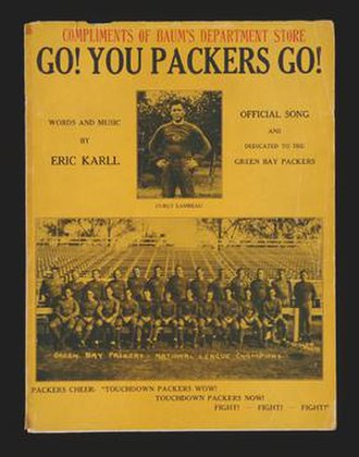 Go! You Packers Go! - Sheet music cover, circa 1931
