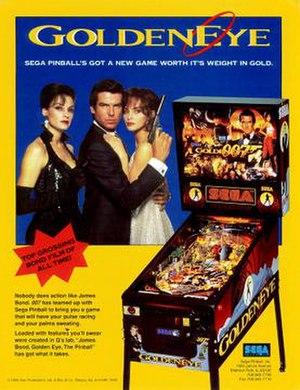GoldenEye (pinball) - Image: Golden Eye pinball flyer