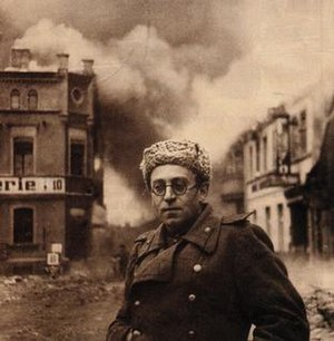 Vasily Grossman - Vasily Grossman with the Red Army in Schwerin, Germany, 1945.