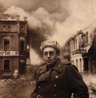 Vasily Grossman - Vasily Grossman with the Red Army in Schwerin, Germany, 1945.