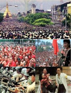 8888 Uprising series of nationwide protests, marches and civil unrest in Burma (Myanmar) that peaked in August 1988