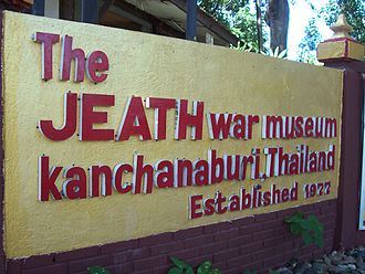 JEATH War Museum - Name sign at the front of the museum