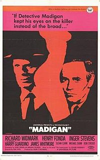 <i>Madigan</i> 1968 film by Don Siegel (as Donald Siegal)