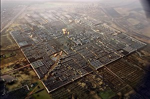 Masdar City - Rendering of the future Masdar City from the air