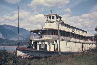 Minto (sternwheeler) - Minto, abandoned at Galena Bay, probably in the summer of 1968.