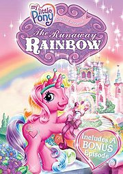 Movie Poster for My Little Pony: The Runaway Rainbow.