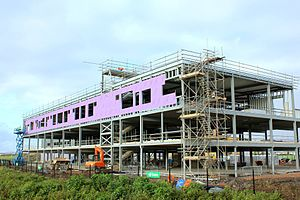 North Somerset Enterprise and Technology College - The NSETC building under construction c. November 2015