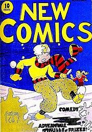 New Comics #1 (Dec. 1935). Cover art by Vin Sullivan.