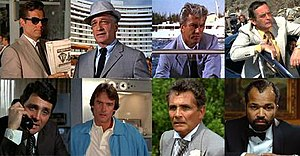 Felix Leiter - Many of the faces of Felix Leiter:  from top-left: Jack Lord, Cec Linder, Rik Van Nutter, Norman Burton  from bottom-left: David Hedison, John Terry, David Hedison, Jeffrey Wright.