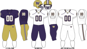 2009 Washington Huskies football team - Image: Pac 10 Uniform UW 2009