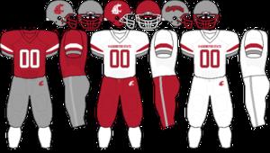2009 Washington State Cougars football team - Image: Pac 10 Uniform WSU 2009
