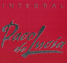 Red cover with the words 'Integral' and 'Paco de Lucía' printed in silver