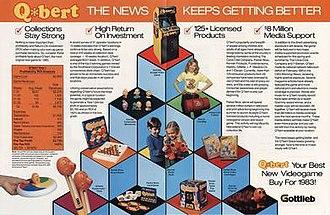 Q*bert - Image: Q*bert merchandise advertisement flyer