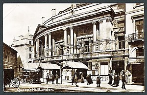 Queen's Hall from Langham Place, 1912