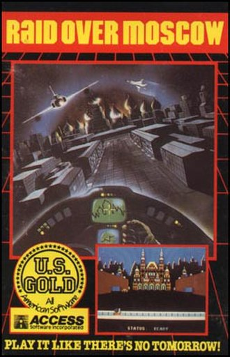 Raid over Moscow - Original release box art