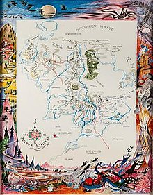 A Map Of Middle Earth Wikipedia