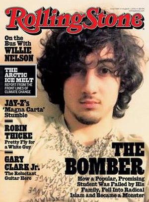 Dzhokhar Tsarnaev - Image of Tsarnaev on the cover of Rolling Stone