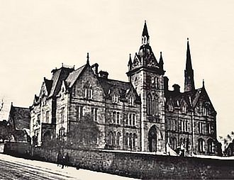 Royal Grammar School, Newcastle upon Tyne - The Rye Hill site in 1885