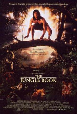 The Jungle Book (1994 film) - Theatrical release poster by John Alvin.