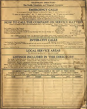 4-1-1 - Image: SF Bay Phone Book 1938 Page 3