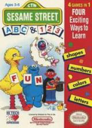 Sesame Street video games - The box art for the compilation of Sesame Street A-B-C and 1-2-3.