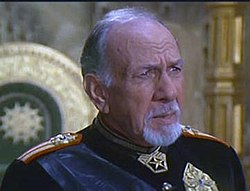 José Ferrer as Emperor Shaddam Corrino IV in Dune (1984).