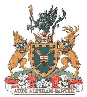 Legislative Assembly of Ontario - Image: Shield of arms Ontario Leg