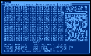 Disk editor computer program that allows its user to read, edit, and write raw data (at character or hexadecimal, byte-levels) on disk drives (e.g., hard disks, USB flash disks or removable media such as a floppy disks)