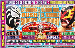CMLL Super Viernes (August 2012) - Official poster for the August 24, 2012 Super Viernes Show