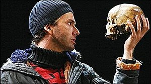 André Tchaikowsky - In accordance with Tchaikowsky's wishes, his skull has been used as a theatrical prop by the Royal Shakespeare Company.  Here, actor David Tennant uses Tchaikowsky's skull in a 2008 production of Hamlet.